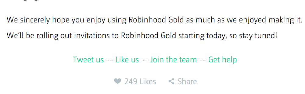 call to action examples robin hood